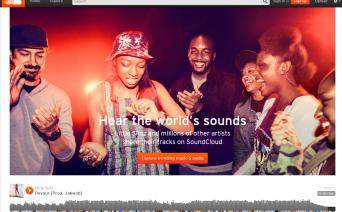音楽配信サイトsoundcloud