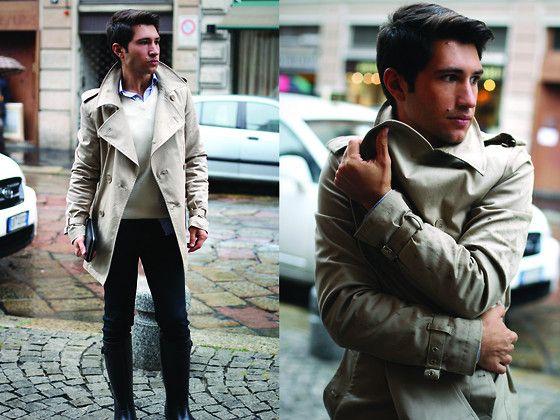 レインブーツ着こなしファッションの画像1