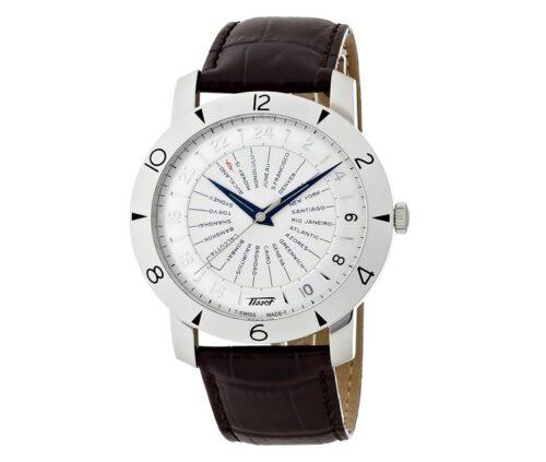 [ティソ] 腕時計 ヘリテージ 160周年記念モデル オートマティック COSC シルバー文字盤 レザー T0786411603700 メンズ 正規輸入品 ブラウン