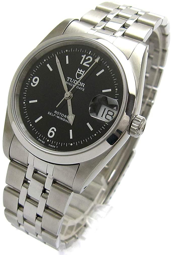 [チュードル]TUDOR 腕時計 プリンス デイト オート ブラック ミラーダイヤル 74000N チューダー 黒文字盤