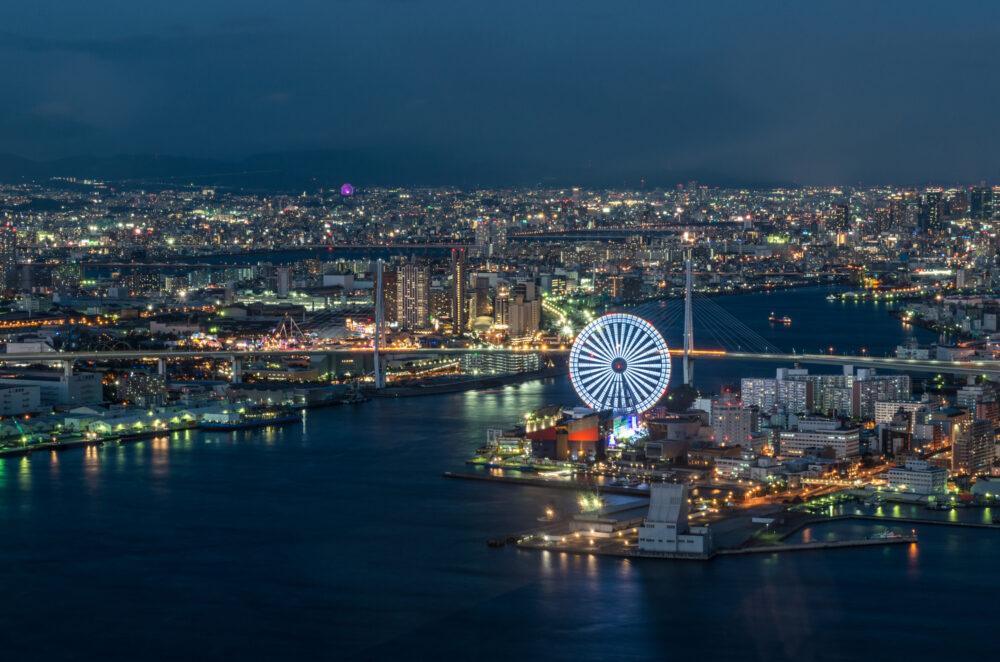 pixta_37420249_M 大阪府庁咲洲庁舎からの夜景