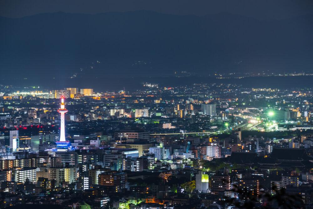 pixta_41199466_M 京都の夜景 (東山山頂公園展望台から)