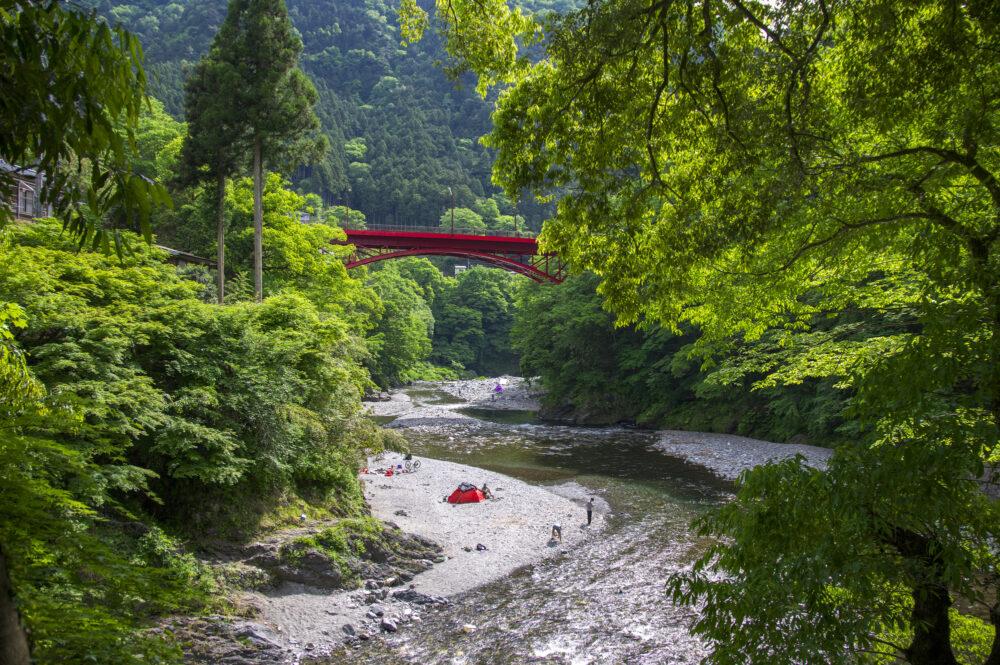 pixta_40712058_M 新緑の氷川渓谷 氷川小橋から昭和橋