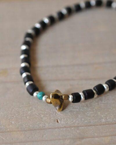 39 (SunKu サンク) Antiqeu Beads & Silver Beads Anklet アンクレット 10P03Dec16