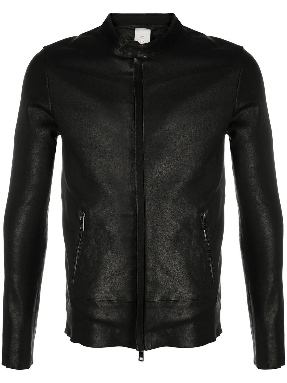 Giorgio Brato ジップアップ レザージャケット - ブラック (18633946748) Farfetch