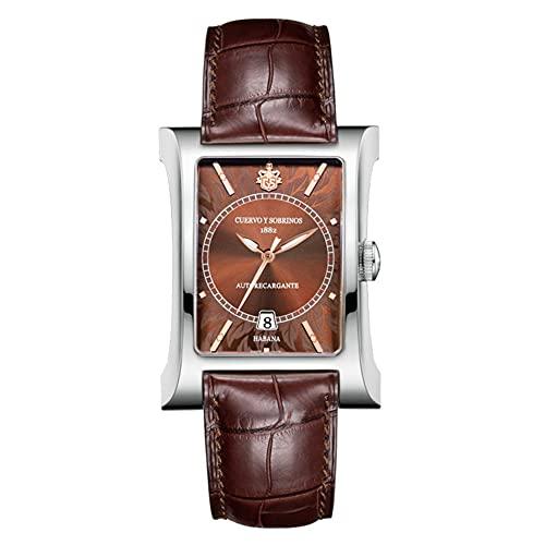 Cuervo Y Sobrinos(クエルボ・イ・ソブリノス) 腕時計 ウォッチ メンズ 自動巻き エスプレンディドス ESPLENDIDOS ブラウン文字盤 茶 2414-1TC 国内正規品