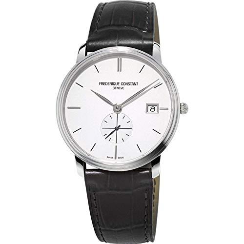 Frederique Constant スリムライン クォーツムーブメント ブルーダイヤル メンズ腕時計 FC-245N4S5 ホワイトダイヤル/ FC-245S4S6。