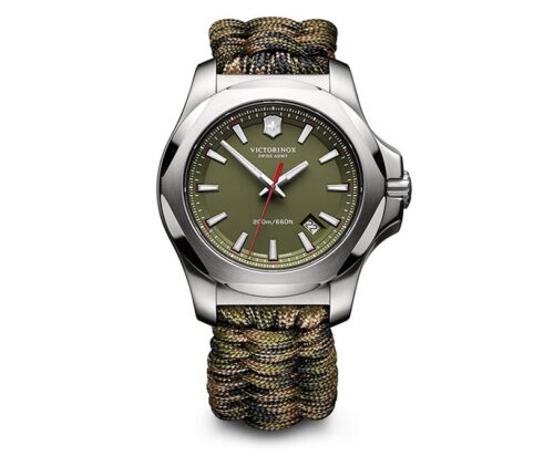 Victorinox (ビクトリノックス) メンズ スイスアーミー I.N.O.X. 腕時計 腕時計。 43MM グリーンI.N.O.X. パラコード。