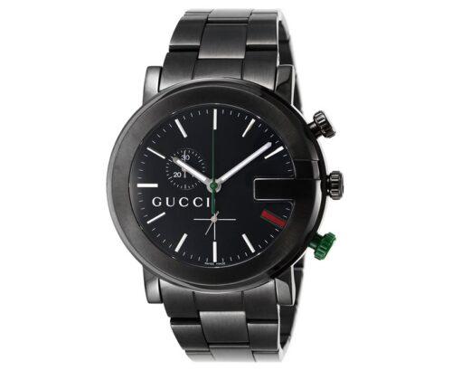 [グッチ]GUCCI 腕時計 101M ブラック PVD クロノグラフ GU-YA101331MSS-BLK メンズ [並行輸入品]