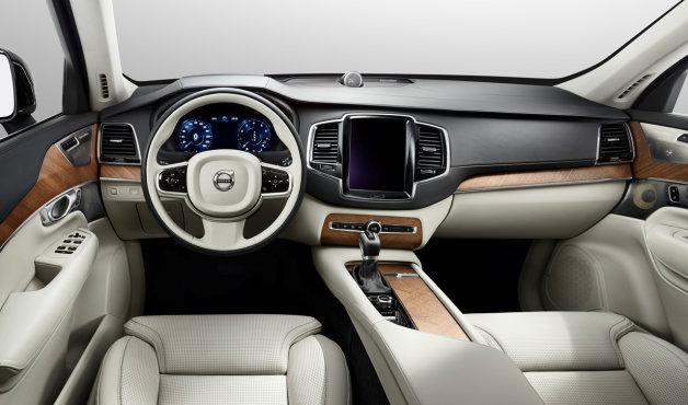 自動車の内装(運転席・助手席、左ハンドル)の画像