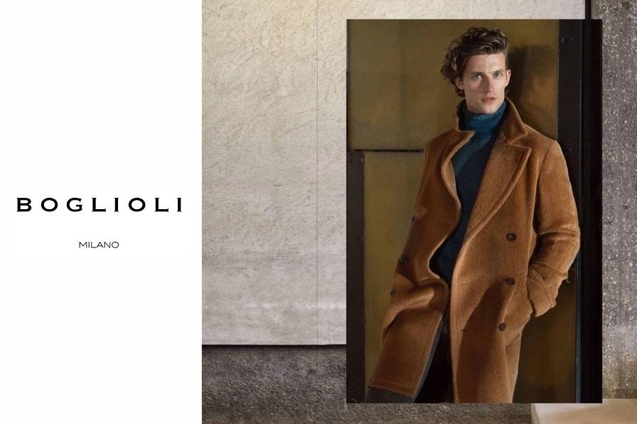 ボリオリのコートを着る男性の画像