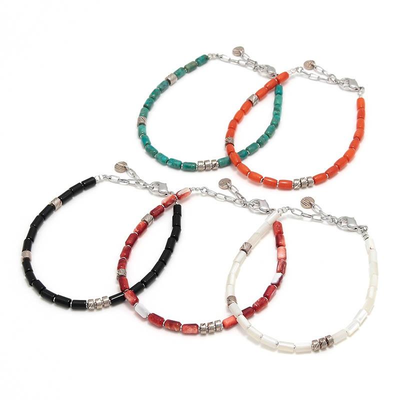 Safari7月号掲載 Tube Beads Bracelet(チューブビーズブレスレット) Suman Dhakhwa(スーマンダックワ)