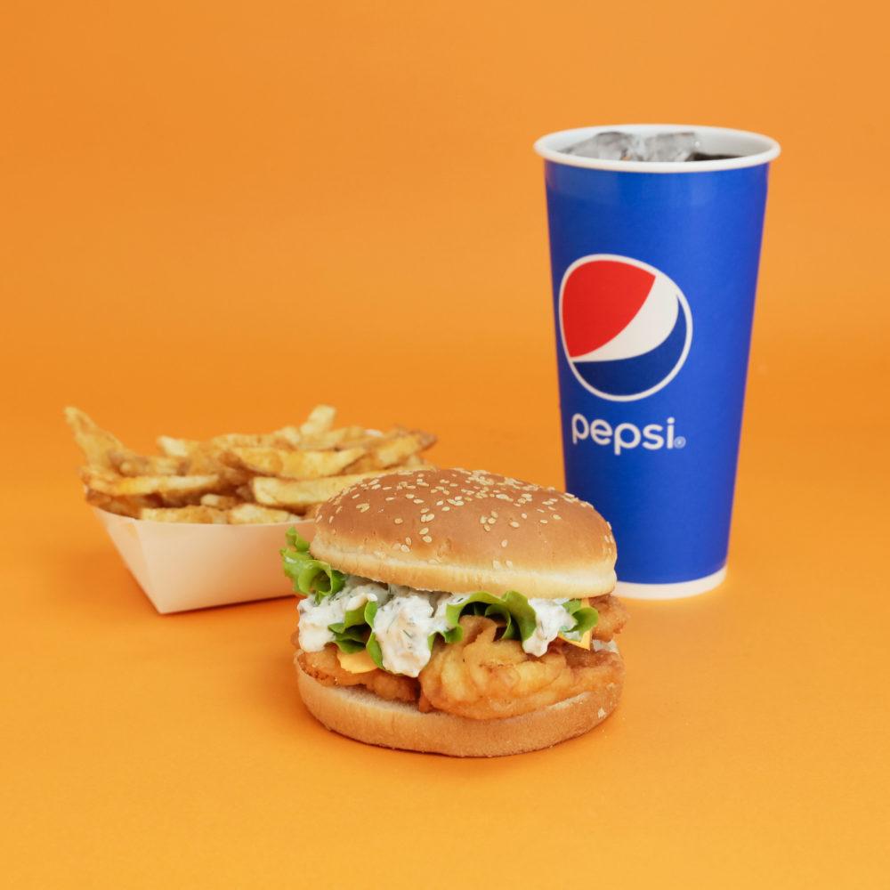seafoolのハンバーガー