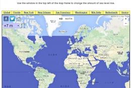 海面上昇のレベルに応じてどの土地が水没するのかが分かる「Global Sea Level Rise Map」