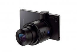 スマートフォンを一眼レフカメラのように拡張でき、単体でも撮影できるカメラ   SONY DSQ-QX10